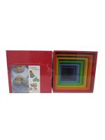 Cubos Apilable de Madera Arco Iris Grimm´s