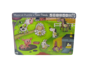 Puzzle musical de animales de la granja Hape
