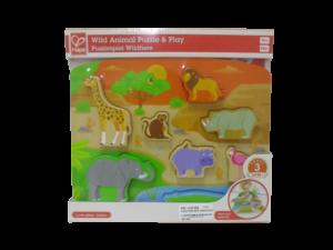 Puzzle para bebes de animales divertido