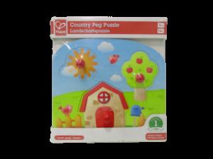 Puzzle para jugar los bebes, casita de campo hape