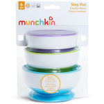 Pack cuencos con ventosa Stay Put de Munchkin (3 ud.)