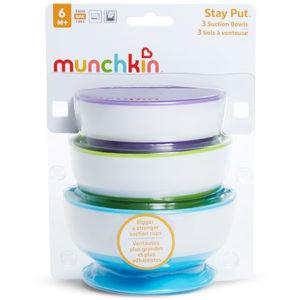 pack 3 cuencos de colores para la comida de los bebes