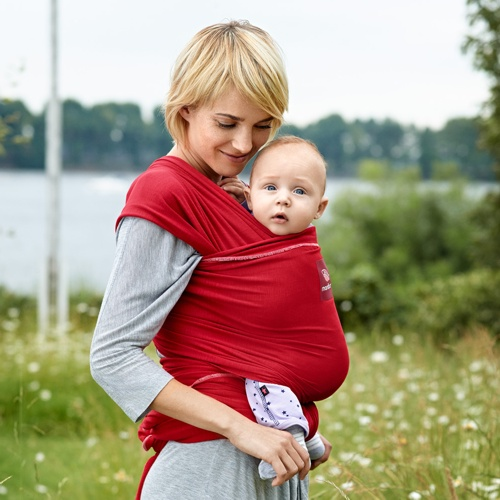 fular manduca color rojo para bebe