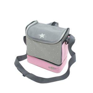 Bolsa Isotermica Stars Pink para conservar comida fria o caliente